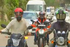 Mục sở thị điều hòa cho mũ bảo hiểm, ra đường không sợ nóng