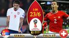 Trực tiếp Serbia vs Thụy Sỹ: Bên tám lạng, người nửa cân