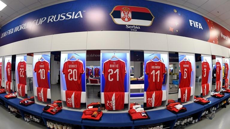 Phòng thay đồ của Serbia