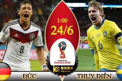 Link xem trực tiếp Đức vs Thụy Điển, 01h ngày 24/6