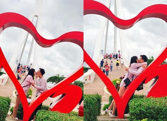 Trấn Thành hôn Hari Won say đắm giữa nơi đông người