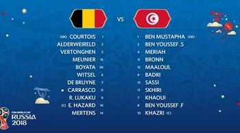 Đội hình ra sân trận Bỉ vs Tunisia: Lukaku đá cắm
