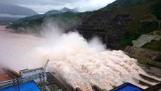 Thủy điện Lai Châu mở cửa xả lũ