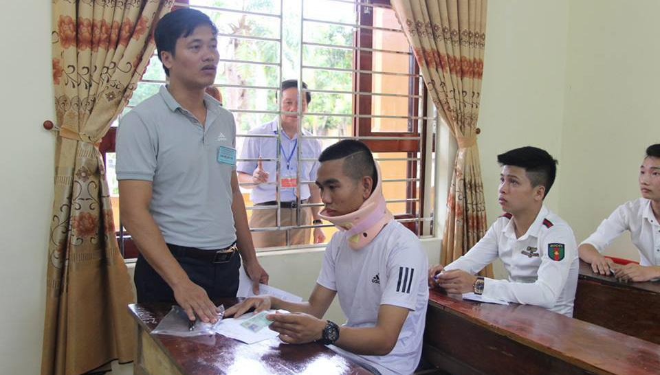 thi tốt nghiệp THPT,Nghệ An,thí sinh bị tai nạn