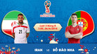 Trực tiếp Iran vs Bồ Đào Nha: Căng như dây đàn