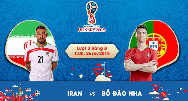Trực tiếp Iran vs Bồ Đào Nha