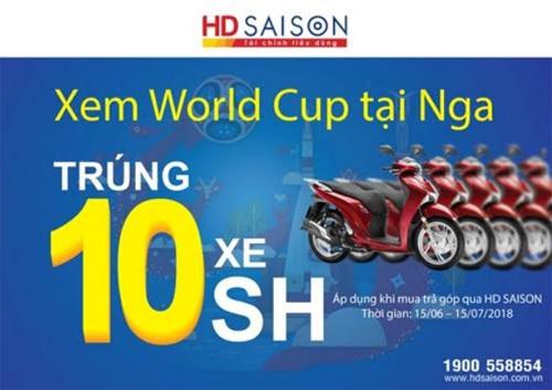 Mùa World Cup: ngập tràn khuyến mãi từ HD SAISON