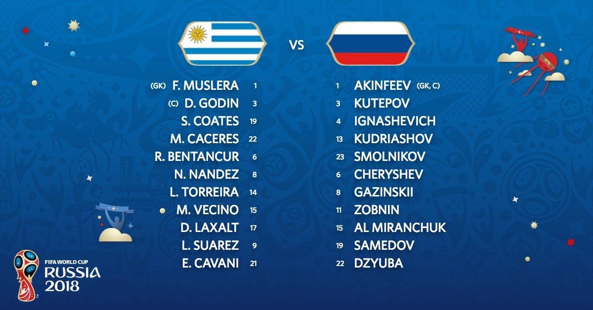 Đội hình ra sân Uruguay vs Nga: Gimenez vắng mặt