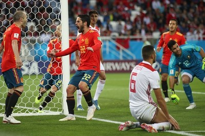 Video bàn thắng Tây Ban Nha 2-2 Maroc