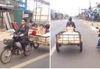 Mànrước dâu'chất lừ' bằng xe chở hàng khiến dân mạng tranh luận