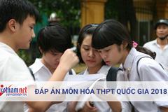 Tham khảo đáp án môn Hóa học THPT quốc gia 2018 tất cả các mã đề