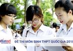 Đề thi môn Sinh học thi tốt nghiệp THPT quốc gia 2018