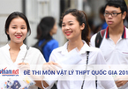 Đề thi môn Vật lý kỳ thi THPT quốc gia 2018
