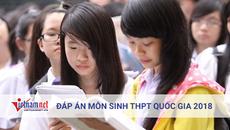 Tham khảo đáp án môn Sinh học THPT quốc gia 2018 tất cả mã đề