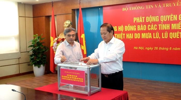 Bộ TT&TT phát động quyên góp ủng hộ đồng bào bị lũ lụt