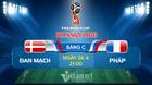 Link xem trực tiếp Đan Mạch vs Pháp, 21h ngày 26/6
