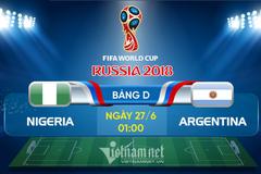 Link xem trực tiếp Argentina vs Nigeria, 01h ngày 27/6