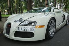 Đặng Lê Nguyên Vũ chơi siêu xe Bugatti Veyron số 1 Việt Nam