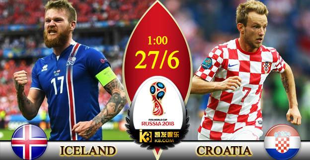 Trực tiếp Iceland vs Croatia