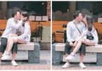 Trấn Thành hôn Hari Won say đắm ngay trên phố