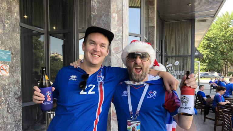 Các CĐV Iceland