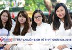 Tham khảo đáp án môn Lịch sử tốt nghiệp THPT quốc gia 2018 tất cả mã đề