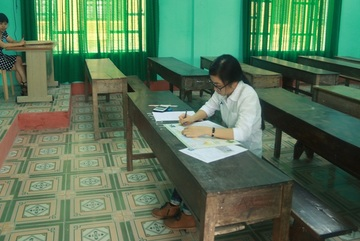 Phòng thi duy nhất 1 thí sinh trong buổi thi cuối cùng