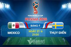 Link xem trực tiếp Mexico vs Thụy Điển, 21h ngày 27/6