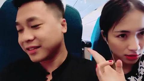 Hòa Minzy đùa vui cùng bạn trai Nguyễn Minh Hải