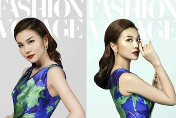 Thanh Hằng làm vedette trong show thời trang tại cầu Vàng