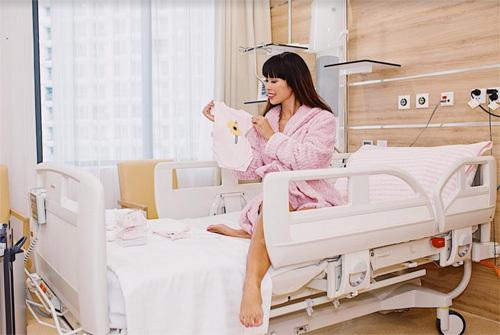 Căn phòng đặc biệt nơi Hà Anh sinh con gái đầu lòng