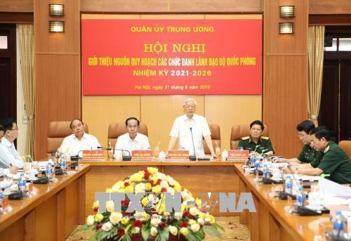 Bộ quốc phòng,Tổng bí thư Nguyễn Phú Trọng,Nguyễn Phú Trọng