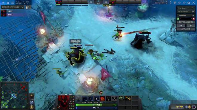 Con người bại trận trước AI trong trò chơi Dota 2