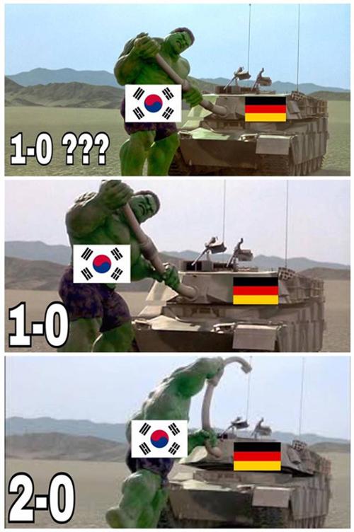 Đức thua Hàn Quốc thảm hại, ảnh chế hài hước ngập Facebook