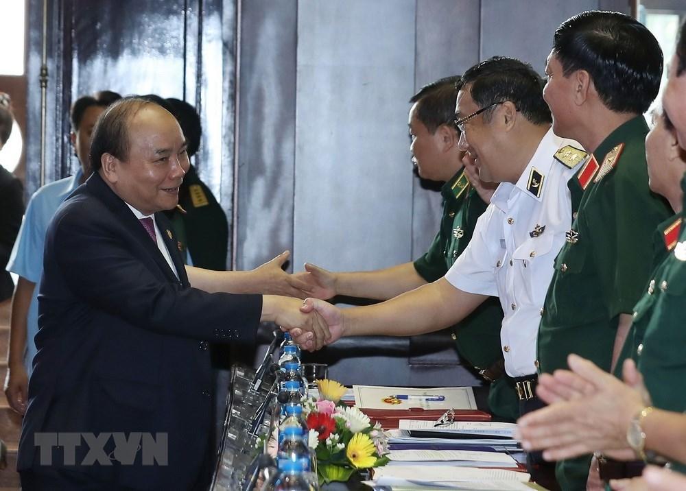 Hình ảnh Thủ tướng dự hội nghị Quân chính toàn quân