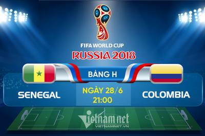 Link xem trực tiếp Senegal vs Colombia, 21h ngày 28/6