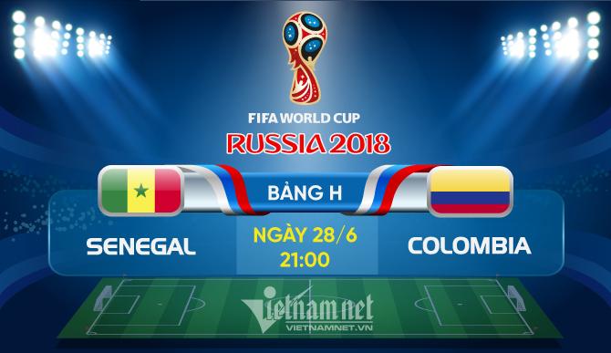 Trực tiếpSenegal vs Colombia