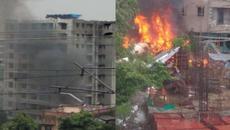 Máy bay lao xuống Mumbai, bốc cháy ngùn ngụt
