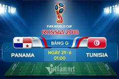 Link xem trực tiếp Panama vs Tunisia, 01h ngày 29/6