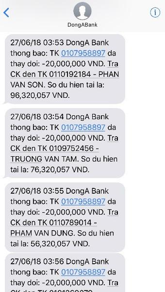 trộm tiền trong tài khoản     Đông Á Bank,thẻ ATM