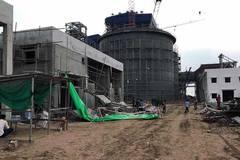 Sập giàn giáo nhà máy nhiệt điện, 1 người chết, 4 người bị thương