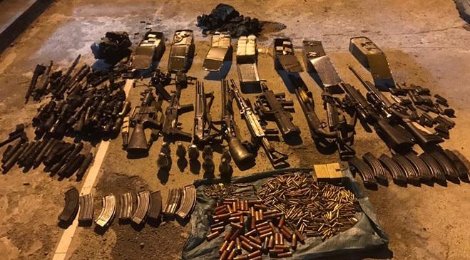 Choáng với số vũ khí thu giữ tại 'sào huyệt' ông trùm Nguyễn Thanh Tuân