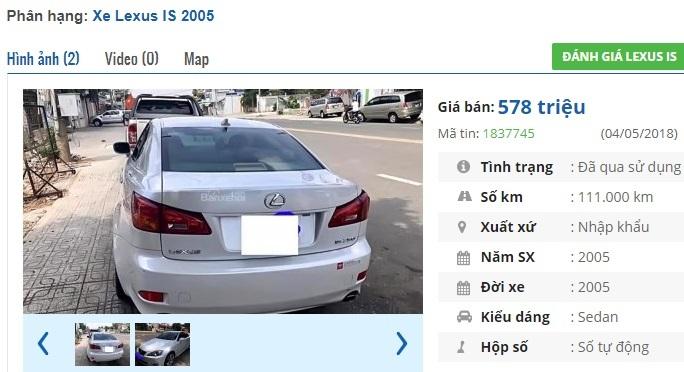 3 chiếc ô tô Lexus cũ số tự động này đang rao bán 500 triệu tại Việt Nam