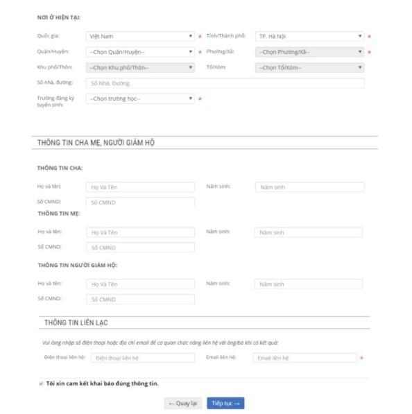 Cách đăng ký tuyển sinh trực tuyến vào trường mầm non Hà Nội năm 2018