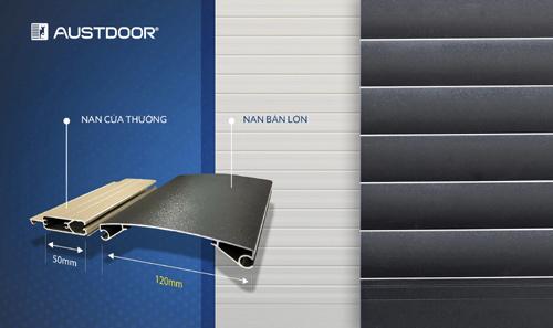 Austdoor ra mắt sản phẩm cửa cuốn nan lớn