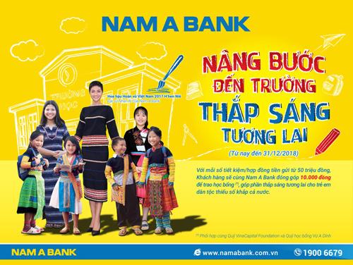 Nam A Bank 'nâng bước' HS dân tộc thiểu số đến trường