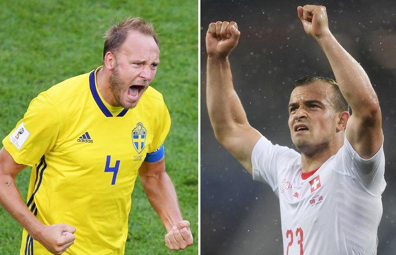 Nhận định trận Thụy Điển và Thụy Sĩ ngày 3/7/2018 World Cup 2018