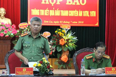 Sơn La họp báo vụ tiêu diệt 2 trùm ma túy ở Lóng Luông