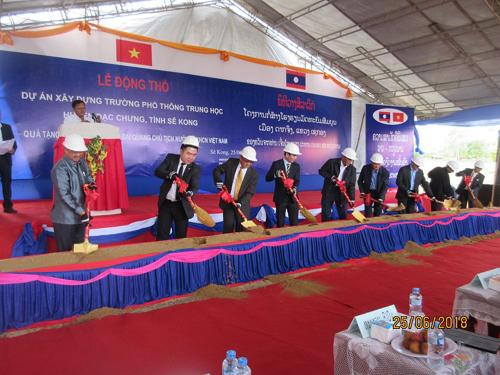 BIDV tài trợ xây trường tại CHDCND Lào