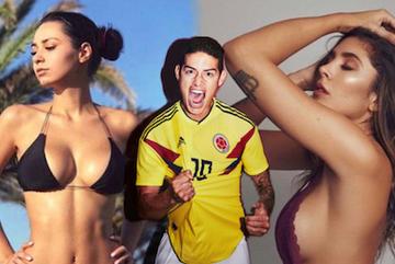 Những cô đào nóng bỏng của cầu thủ Colombia